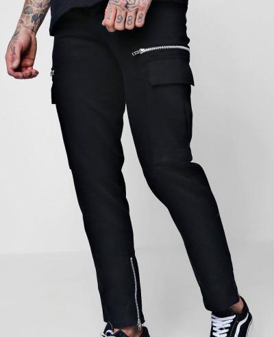 New-Zipper-Men-Slim-Fit-Cargo-Trousers