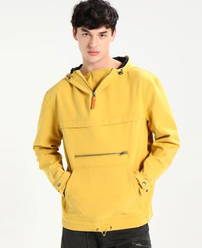 New-Look-Men-Yellow-Windbreaker-Jacket