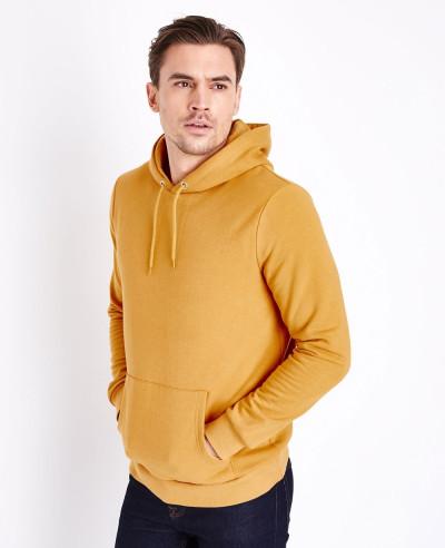 Pullover-Men-Mustard-Pocket-Front-Hoodie