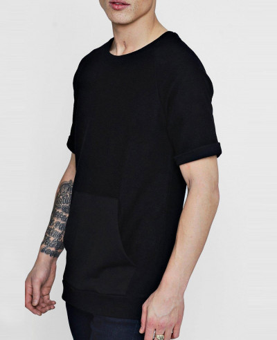 Raglan-Sleeve-Textured-Sweater-T-Shirt