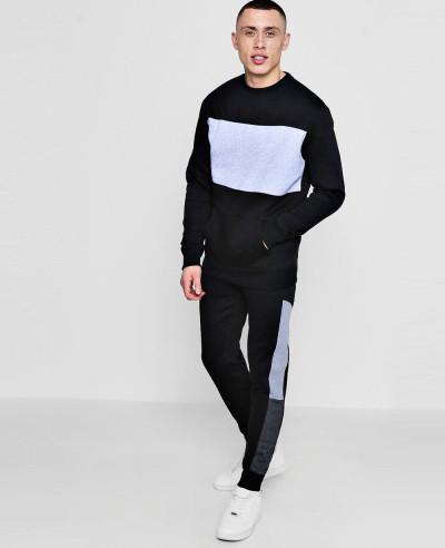 Skinny-Colour-Block-Sweater-Tracksuit