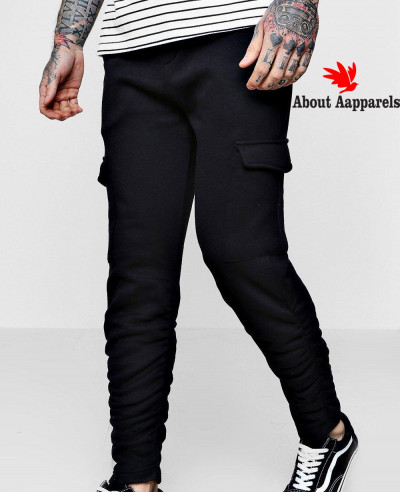 Skinny-Fit-Cargo-Trousers-With-Ruching