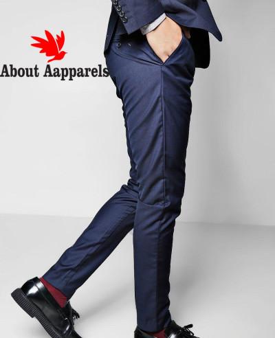 Skinny-Fit-Plain-Suit-Trouser