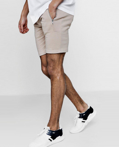 Skinny-Fit-Shorts-With-Side-Panelling