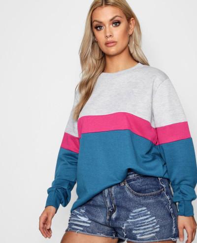 Sports-Stripe-Colour-Block-Sweat-Top-Sweatshirt