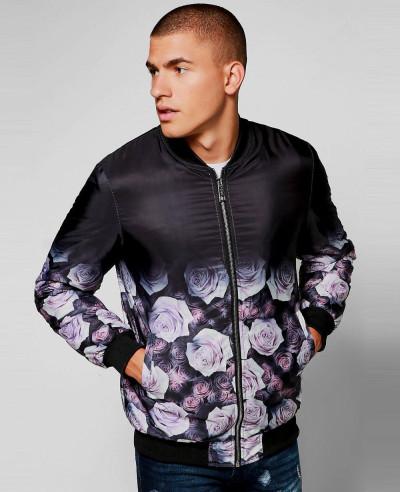 Sublimation-Customized-Satin-Oriental-Floral-Bomber-Varsity-Jacket