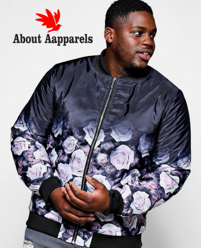 Sublimetion-Big-And-Tall-Black-Rose-Ombre-Printed-Bomber-Varsity-Jacket