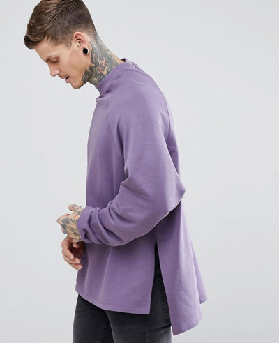 Super-Longline-Oversized-Sweatshirt-With-Side-Splits-&-Dropped-Hem