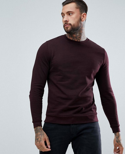 Sweatshirt-In-Burgundy