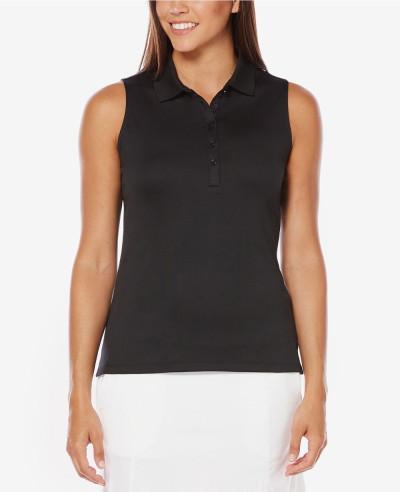 Women-Blue-Sleeveless-Golf-Polo-Shirt