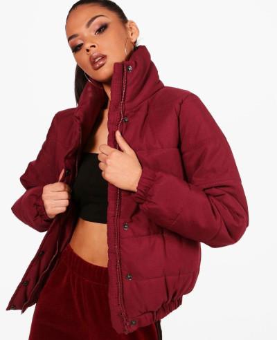 Women-Crop-Funnel-Neck-Padded-Jacket
