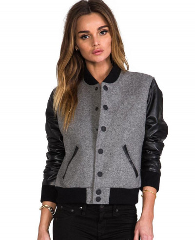 Women-Fashion-Leather-Sleeve-Wool-Varsity-Jacket