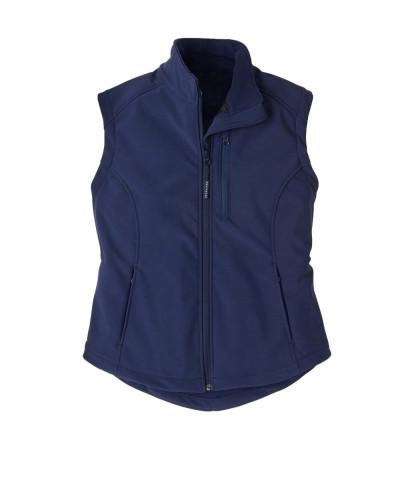 Women-Fashion-Navy-Blue-With-Sleeveless-Softshell-Jacket