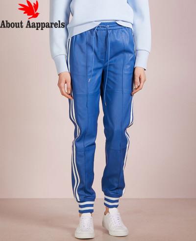 Women-Fashionable-Biker-Leather-Jogger-Pant