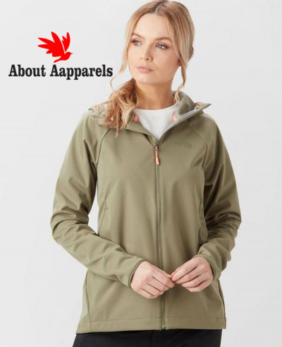 Women-Green-Fashion-Softshell-Hooded-Jacket