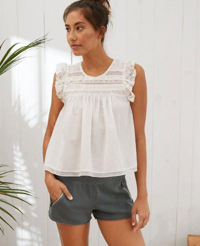 Women-Gym-Charcoal-Fleece-Zipper-Pocket-Short