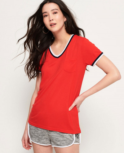 Women-Vintage-Red-T-Shirt