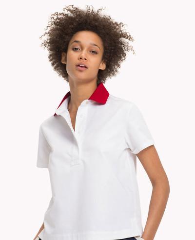 Women-White-Fit-Polo-Tee