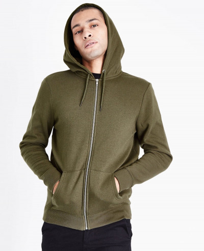 Zip-Up-Men-Khaki-Custom-Hoodie