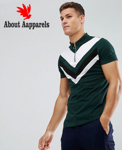 Zipper-Men-High-Quality-Custom-Made-Neck-Polo-Shirt