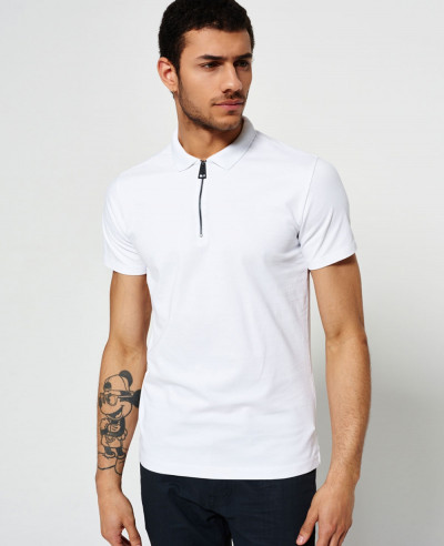 Zipper-Men-Polo-Shirt