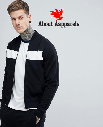 Zipper-Through-Panel-Bomber-Sweat-Jacket-In-Black