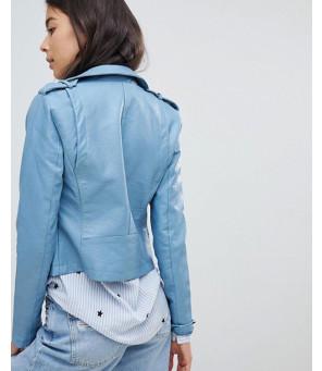 Women-Leather-Look-Biker-Jacket