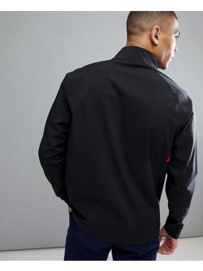 Full-Zipper-Overhead-Lightweight-Windbreaker-Jacket-In-Black