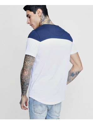 High-Custom-Made-Longline-Colour-Block-Embroidered-T-Shirt