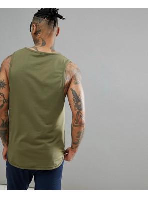 High-Quality-Men-Custom-Vest-In-Khaki-Tank-Top