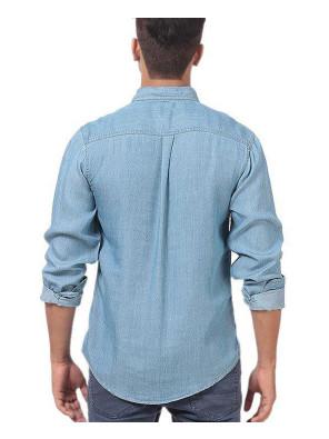 Men-Lite-Denim-Pre-Washed-Shirt-With-Dark-Patch-Pocket