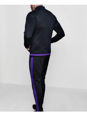 Men-Skinny-Fit-Funnel-Neck-Sports-Tracksuit