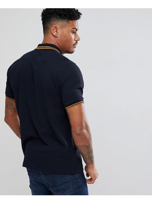 Men-Slim-Fit-Twin-Tipped-Polo-Shirt-In-Navy