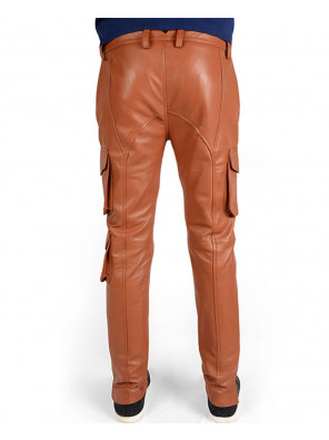 Men-Synthetic-Leather-Slim-Fit-Fashion-Punk-Autumn-Long-Cargo-Leather-Pant