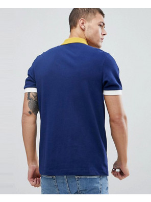Most-Selling-Men-Custom-Colour-Block-Pique-Polo-In-Navy