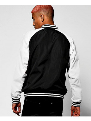 Black-Raglan-Bomber-Jacket-With-Applique-Badge-Varsity-Jacket
