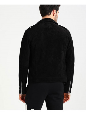 Men-Black-Suede-Biker-Classic-Leather-Jacket