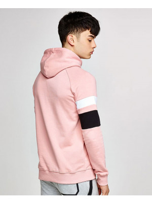 Pink-Colour-Block-Men-Stylish-Hoodie
