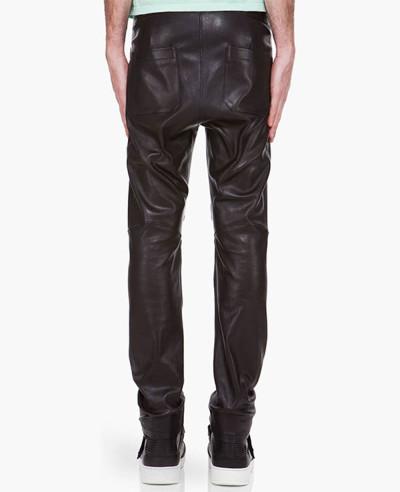 100% New Genuine Sheep Napa Leather Men Designer Biker Leather Pant
