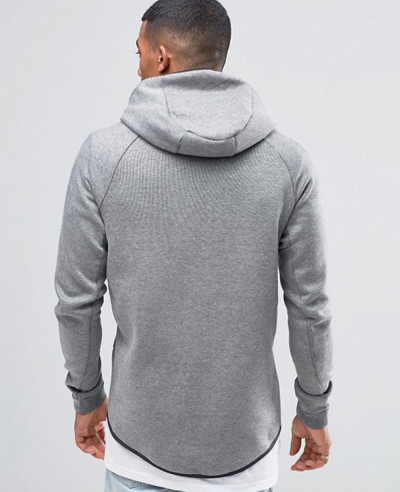 About Apparels Tech Fleece In Grey Zip Up Hoodie