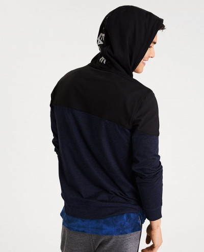 Active Color Block Men Hoodie