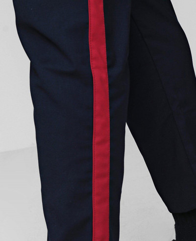 Big And Tall Cropped Tape Detail Trouser
