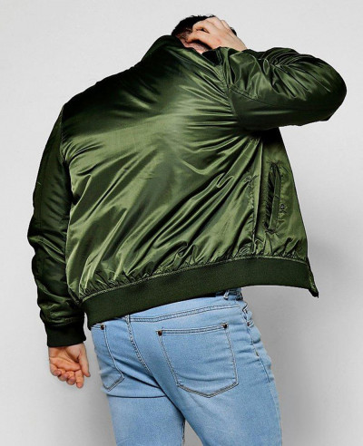 Big And Tall Khaki Bomber Jacket Varsity Jacket