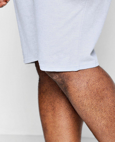 Big And Tall Men Mid Length Jersey Shorts