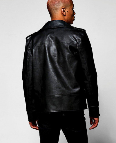 Black-Faux-Leather-Regular-Fit-Biker-Jacket