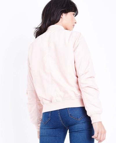 Blue-Vanilla-Pale-Pink-Satin-Bomber-Varsity-Jacket