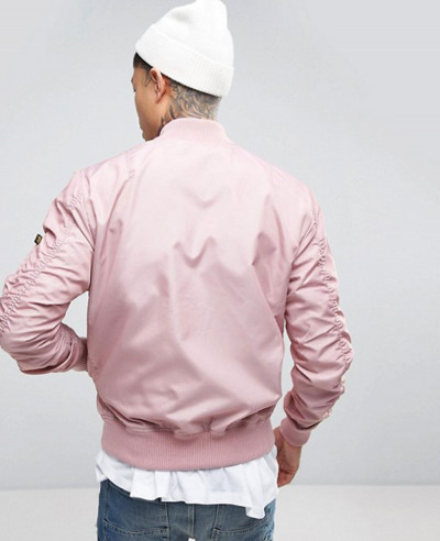 Bomber Jacket Slim Fit in Pink