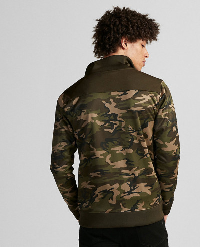 Color Block Camo Track Jacket