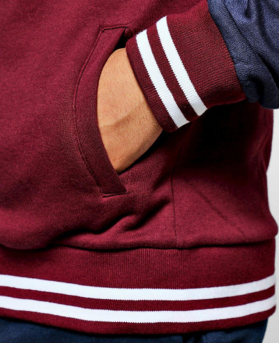Colour Block Jersey Bomber