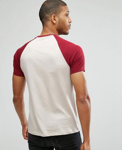 Contrast Raglan Short Sleeve T Shirt